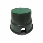 Foto de ARQUETA CIRCULAR. DIAMETRO 33,0 cm.Color verde,  reforzada de gran resistencia. Cierre de seguridad por tornillo-tuerca.