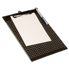 Foto de CLIPBOARD OFFICE BOX VERTICAL CON PINZA CUADRICULA