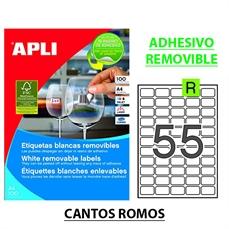 Foto de ETIQUETAS REMOVIBLES A4 36,8x23,8 CAJA 100H. 3051