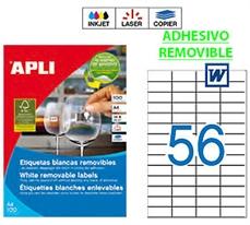Foto de ETIQUETAS REMOVIBLES A4 52,5x21,2 CAJA 100H. 3055