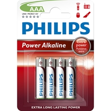 Foto de PILAS PHILIPS ALCALINAS AAA BLISTER 4UD. LR03