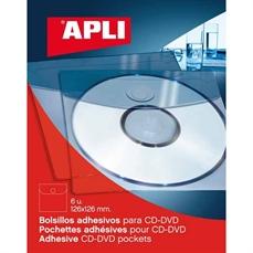 Foto de PACK 6 FUNDAS ADHESIVAS CD'S APLI