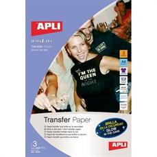 Foto de PAPEL TRANSFER INKET BRILLA EN OSCURIDAD 3H. APLI