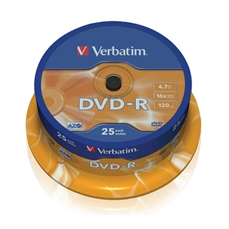 Foto de TARRINA 25 DVD'S -R VERBATIM 4,7GB