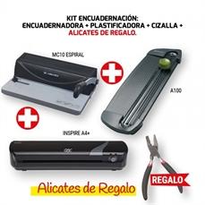 Foto de KIT ENCUADERNACION GBC: ENCUADERNADORA MC10 + PLAS