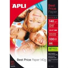 Foto de PAPEL GLOSSY APLI A4 EVERYDAY PAPER 140 GR. 100 HO