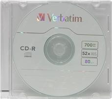 Foto de CD-R SLIM VERBATIM 700MB 52X 80 MIN.