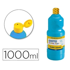 Foto de TEMPERA ESCOLAR GIOTTO 1000ML AZUL CYAN
