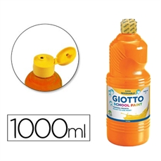 Foto de TEMPERA ESCOLAR GIOTTO 1000ML NARANJA
