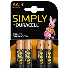 Foto de PILAS DURACELL ALCALINAS SIMPLY AA 4UD. LR6
