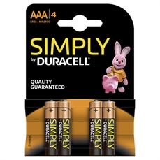 Foto de PILAS DURACELL ALCALINAS SIMPLY AAA 4UD. LR03